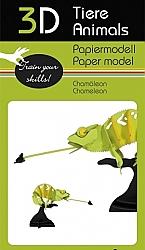 Kameleon - 3D karton model