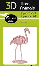 Flamingo - 3D karton model