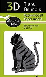 Kat zwart - 3D karton model