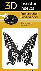 Vlinder - 3D karton model