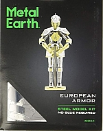 European Knight Armor Metal Earth