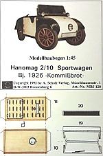 Hanomag PS 2/10 Sportwagen 1:45