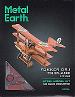 "Tri-Wing Fokker ""Rode Baron"" Metal Earth"