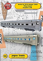 Fe 10-6 Santa Fe slaapwagen 1:48