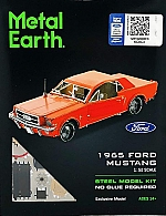 Ford Mustang Coupe 1965 (Red) Metal Earth