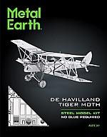 De Havilland Tiger Moth DH82 Metal Earth