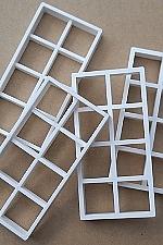 4 Lange kunststof ramen