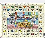 Learning English Puzzle - In de keuken   7 - 11 jaar