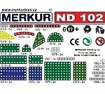 Merkur ND 102 korte banden en platen