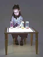Houten licht tafel