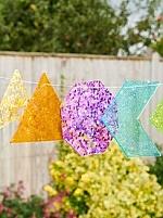 Regenboog glittervormen