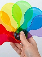 Transparante kleuren peddelset