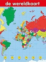 Educatieve poster De Wereldkaart