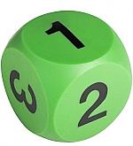 Dobbelsteen met cijfers groen