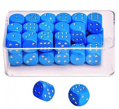 Dobbelstenen stippen blauw