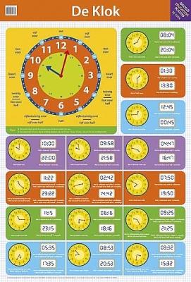 Educatieve poster - De klok