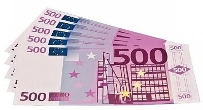 Euro biljetten 500 euro