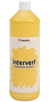 Gouache Interverf - 1 Liter geel