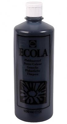 Gouache Ecola 1000 ml zwart