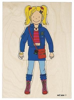 Aankleedpuzzel meisje Educo