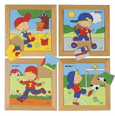 Puzzelserie jongen educo