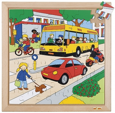 Verkeerspuzzel de weg Educo