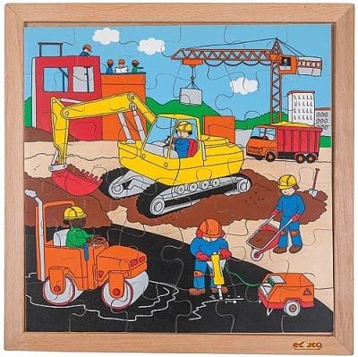 Actie puzzels wegwerkzaamheden Educo