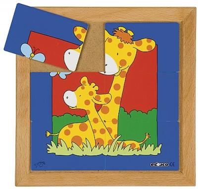 Dierenpuzzels 'moeder en kind' | Giraffe