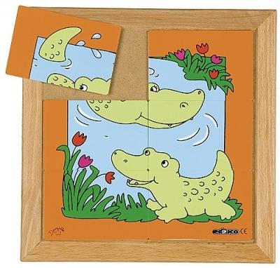Dierenpuzzels 'moeder en kind' | Krokodil