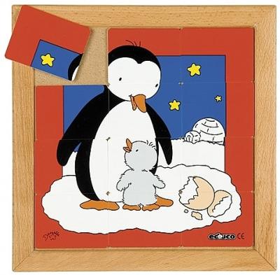 Dierenpuzzels 'Moeder en kind' | Pinguïn