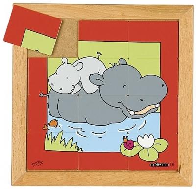 Dierenpuzzels 'Moeder en kind'   Nijlpaard