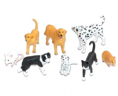 Huisdieren 8 delige set
