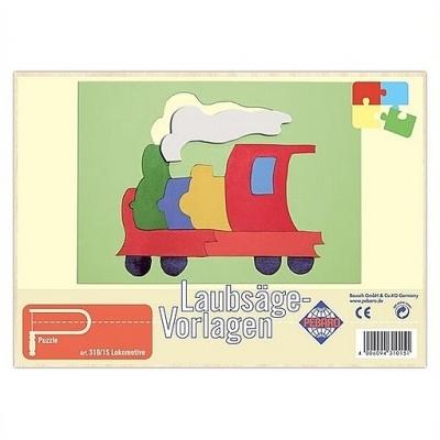Figuurzaag voorbeeld lokomotief