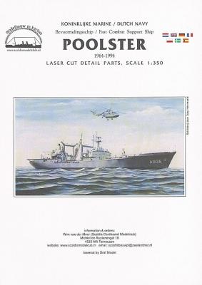Hr.Ms. Poolster lasercut set details