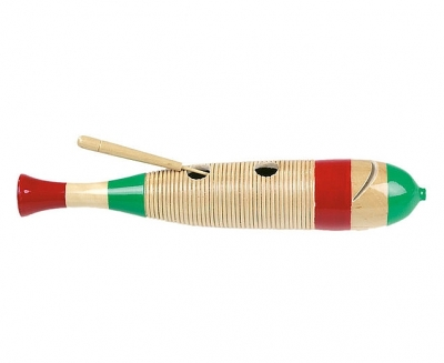 Mexicaanse houten Guiro visvorm